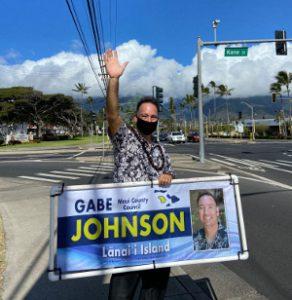 Gabe Johnson running for Maui County Council - Lana'i seat